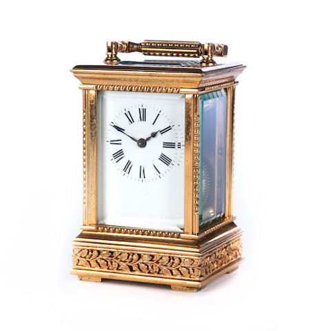 A miniature carriage timepiece
