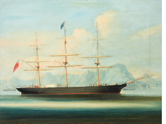 Anglo-Chinese School, mid-19th Century A British clipper ship moored off Hong Kong