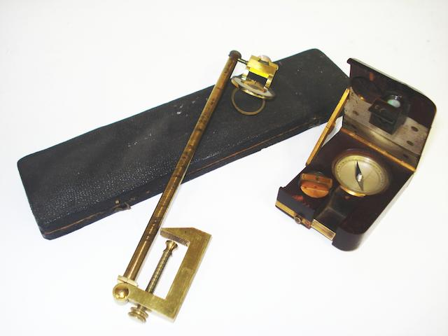 A camera lucida and a prismatic compass,  (2)