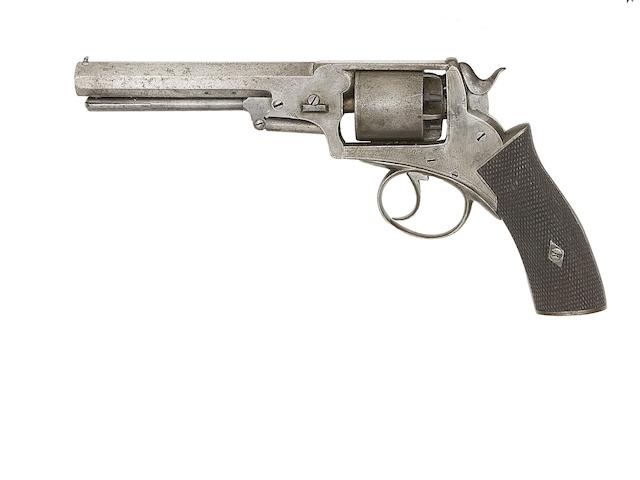A 50-Bore 'Birmingham Made' Five-Shot Double-Action 'Wedge-Frame' Percussion Revolver Of Webley Type