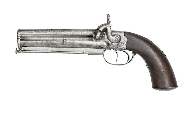 A 40-Bore Over-And-Under Percussion Belt Pistol