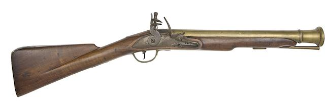 A Brass-Barrelled Flintlock Blunderbuss Of Sea Service Type
