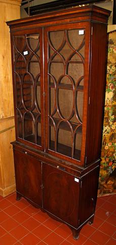 A Georgian style Edwardian mahogany  cabinet