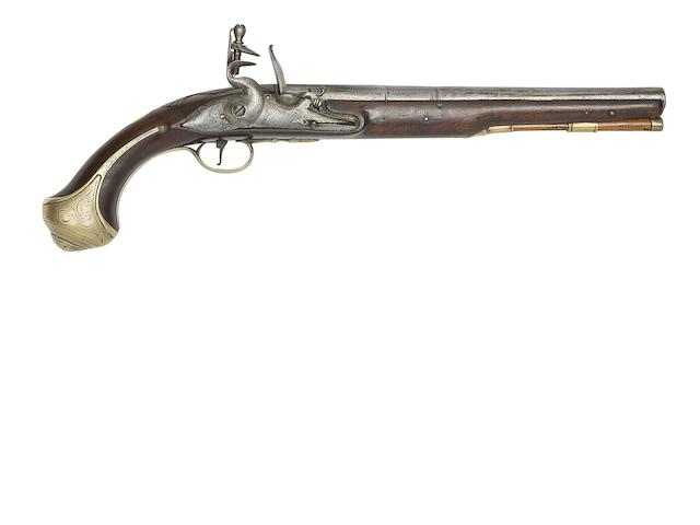 A 22-Bore Brass-Mounted Flintlock Pistol, A 50-Bore Flintlock Box-Lock Pocket Pistol, And A 25-Bore Turkish Flintlock Holster Pistol