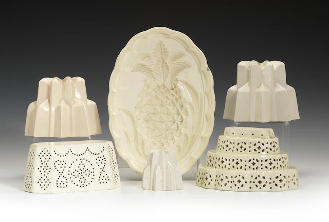 A collection of jelly moulds, circa 1770-80 and later