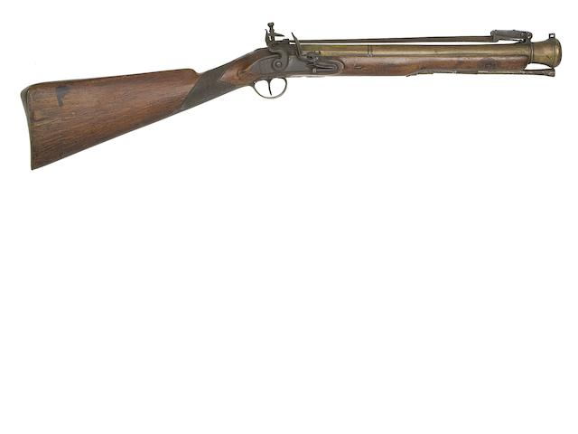 A Brass-Barrelled Flintlock Blunderbuss