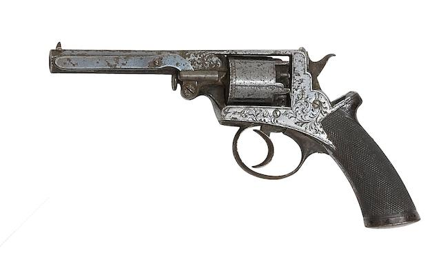 A 120-Bore Beaumont-Adams Patent Five-Shot Double-Action Percussion Revolver