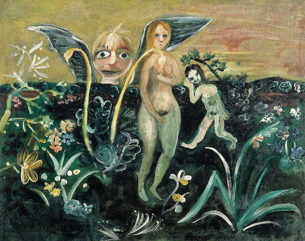 John Perceval (1923-2000) Adam and Eve with the Garlic Plant 1955
