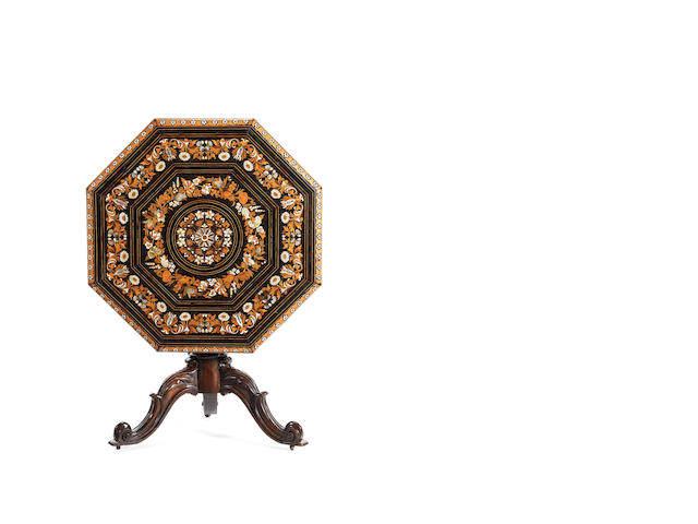 An Italian marquetry table - possibly by Falcini
