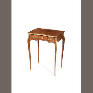 A French ormolu-mounted kingwood and marquetry occasional table probably by Gervais Durand, Paris