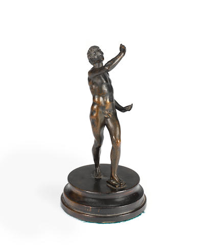 A bronze figure of Narcissus
