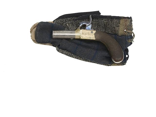 A 100-Bore Percussion Box-Lock Pocket Pistol