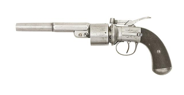 A 54-Bore Baker's Patent Transitional Six-Shot Single-Action Percussion Revolver