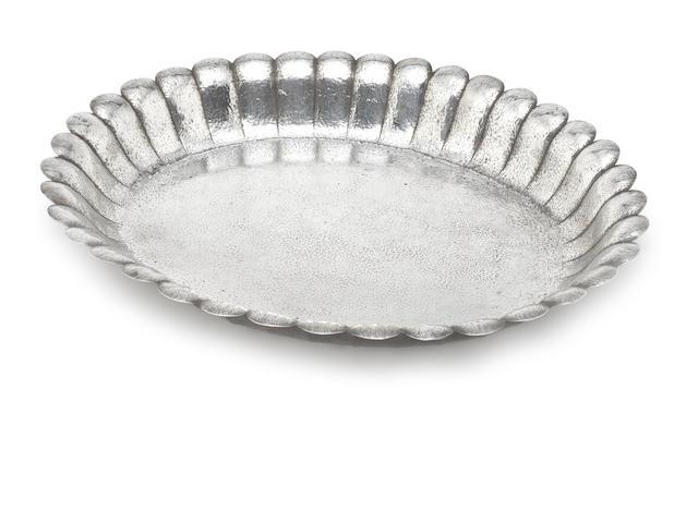 A silver tray by Werkstätte Hagenauer, with 800 standard mark,  Vienna circa 1922