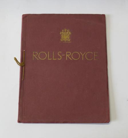 A Rolls-Royce Phantom II sales catalogue, 1930s,