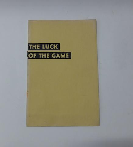 MG: 'The Luck of the Game', 1932,