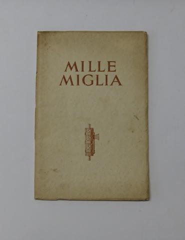 MG: 'Mille Miglia', 1933,