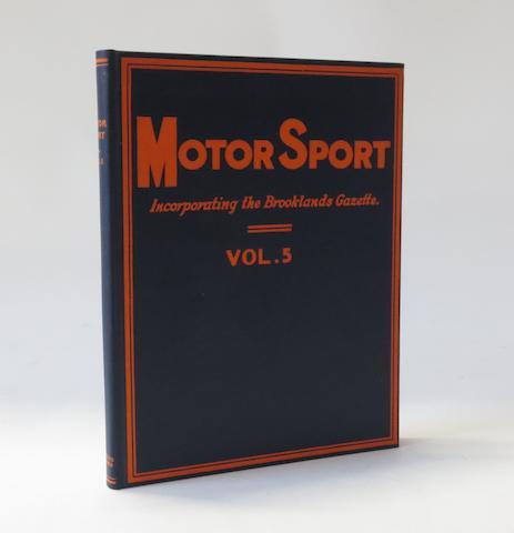Motor Sport; Volume 5, (1928-29),