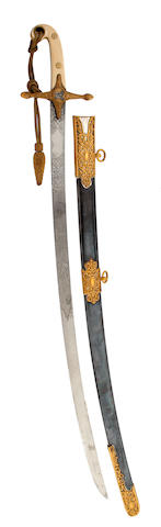A Mameluke-Hilted Officer's Levee Sabre Of The 18th Hussars