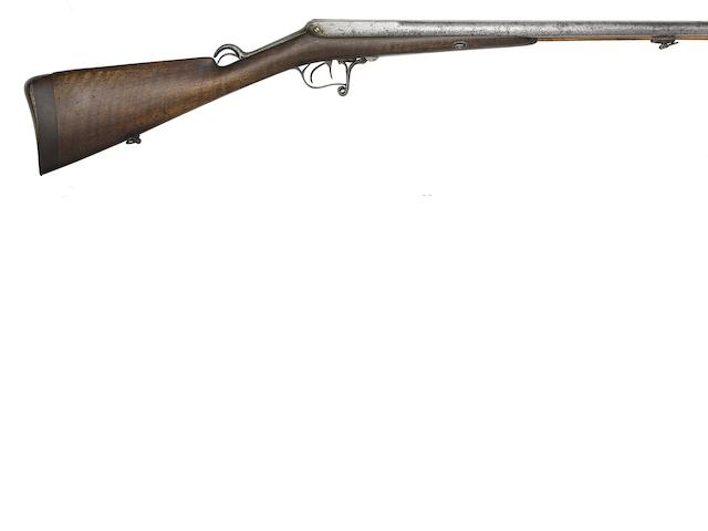 A Rare Belgian 13-Bore Montigny Patent Breech-Loading D.B. Needle-Fire Sporting Gun