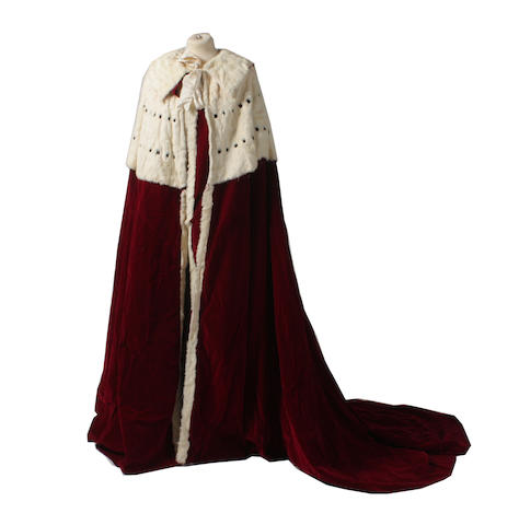 The Coronation robe and Coronet for Lord Mowbray and Stourton for the 1902 Coronation of Edward VII