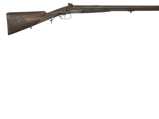 A 10-Bore D.B. Percussion Game Rifle, And A 16-Bore D.B. Percussion Sporting Gun