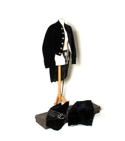 A late Victorian Court Officer's outfit