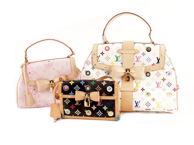 Three Louis Vuitton multicoloured monogrammed bags