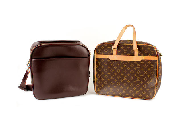 Two Louis Vuitton business bags
