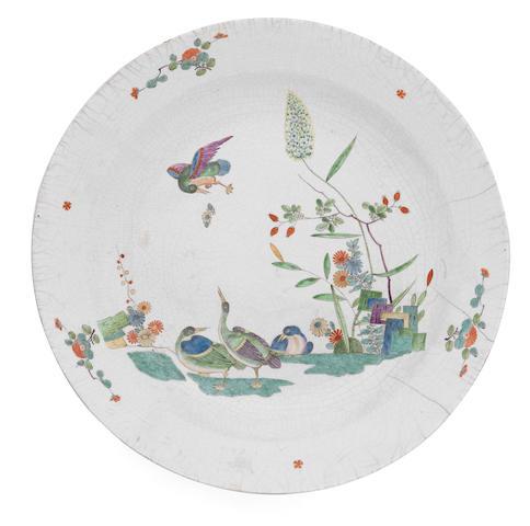 Two extremely rare Meissen circular dish, circa 1730-35