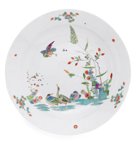 An extremely rare pair of Meissen dishes, circa 1730-35