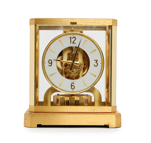 A second half of the 20th century gilt brass Jaeger LeCoultre Atmos clock Model ATMOS V111 R  No. 370368