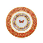 A Sevres 'marli rouge' plate with butterfly