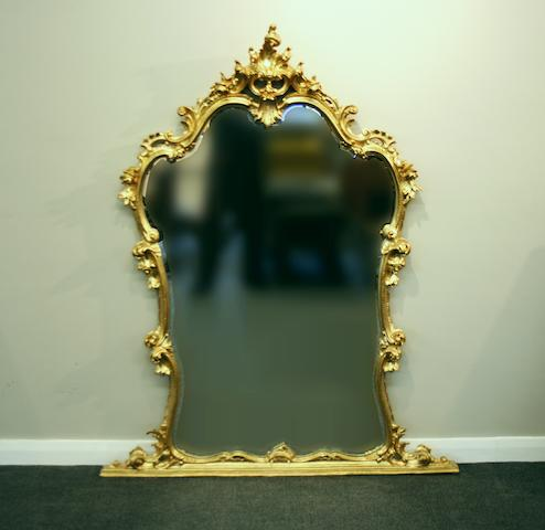 Two gilt-framed wall mirrors