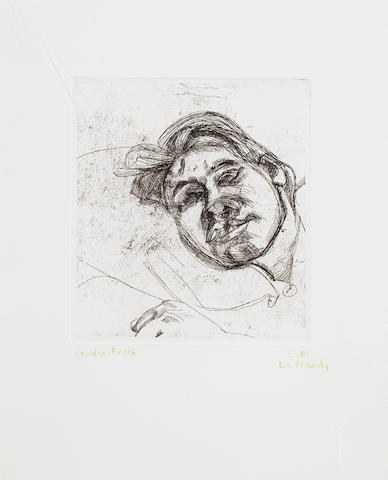 Lucian Freud (British, 1922-2011) Bella (second version) Etching, 1982, on BFK Rives, signed and numbered from the edition of 25, printed and proofed by Terry Wilson of Palm Tree Studios, London, with full margins, 145 x 133mm (5 3/4 x 5 1/4in)(PL)