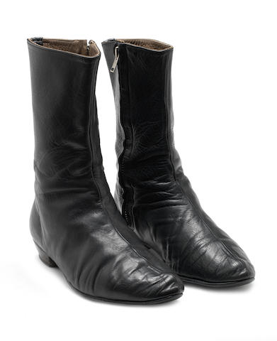 George Harrison: A pair of George Harrison's 'Beatle' boots, circa 1964,