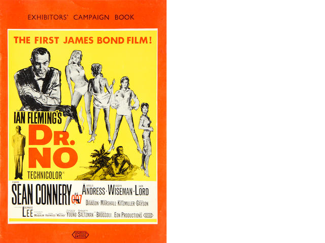 James Bond: four early exhibitors campaign books,