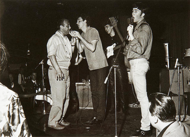 Gerd Mingram ('Germin') (1910-2001): The Beatles at the Top Ten Club, Hamburg,  1961,