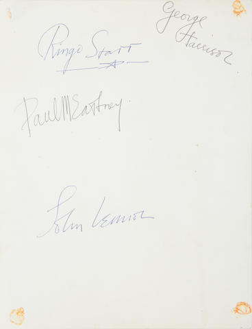 George Harrison/ The Beatles: A Beatles publicity photo signed by George Harrison,