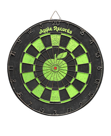 George Harrison/ The Beatles: A scarce Apple Records dartboard, late 1960s,