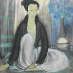 Lin Fengmian (Chinese, 1900-1991) Portrait of a woman