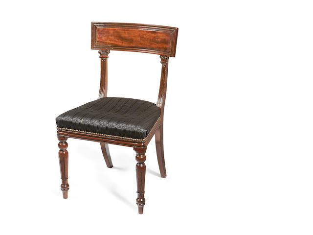 A set of six George IV mahogany dining chairs by R Morrell