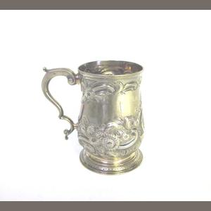 A George III  silver mug probably by William Cripps, London 1763; together with a collection of other items  (11)