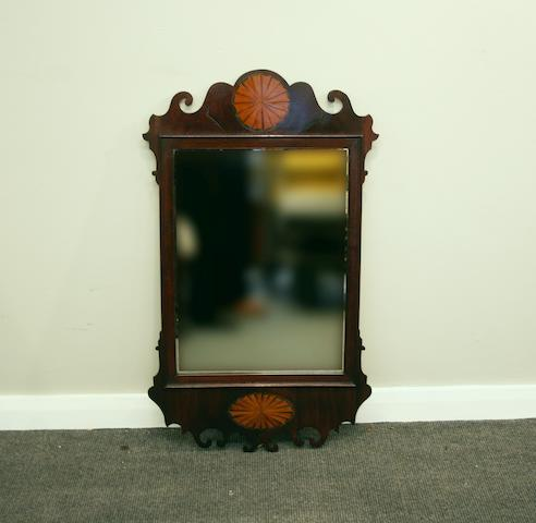 A late 19th century wall mirror