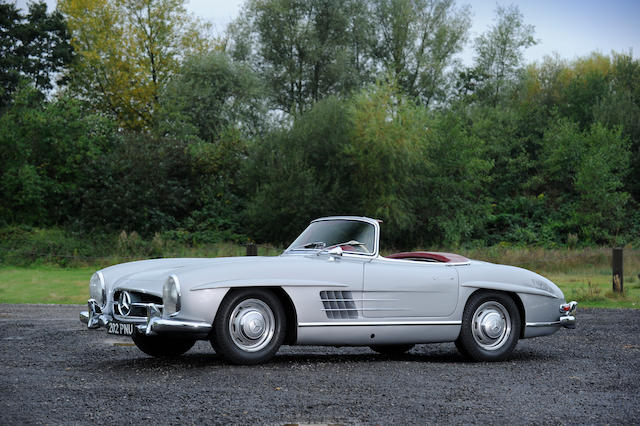 37,000 miles from new,1957 Mercedes 300SL Roadster  Chassis no. 198-042-75-00109 Engine no. 198-980-75-00126