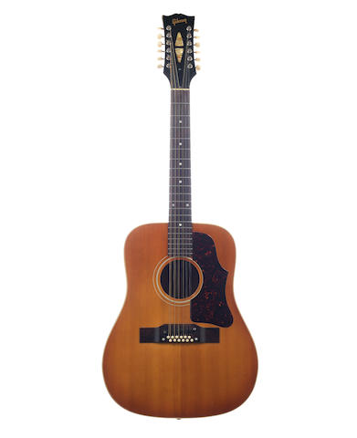 Oasis / Noel Gallagher: A circa. 1962-1963 Gibson B45, 12 string acoustic guitar,