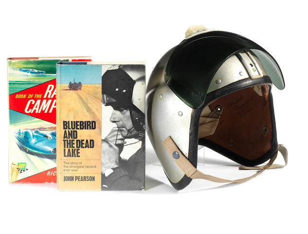 Donald Campbell's safety helmet, 1962, formerly the property of the Late Leo Villa,