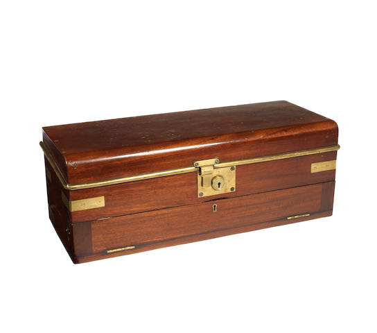 A fine and rare wooden motoring tool-case, circa 1910,
