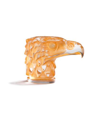 A pre-War 'Tete d'Aigle' glass mascot by René Lalique, introduced 14th March 1928,