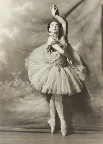 Cecil Beaton (British, 1904-1980): Margot Fonteyn - 'Les Sirènes', five black and white photographic images, signed by Beaton, circa 1946, 5